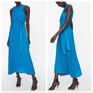 GORGEOUS ZARA NWT Pleated Wrap Dress